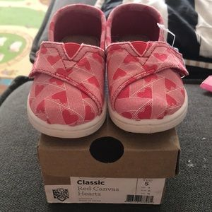 Brand new TOMS shoes in size 5 toddler